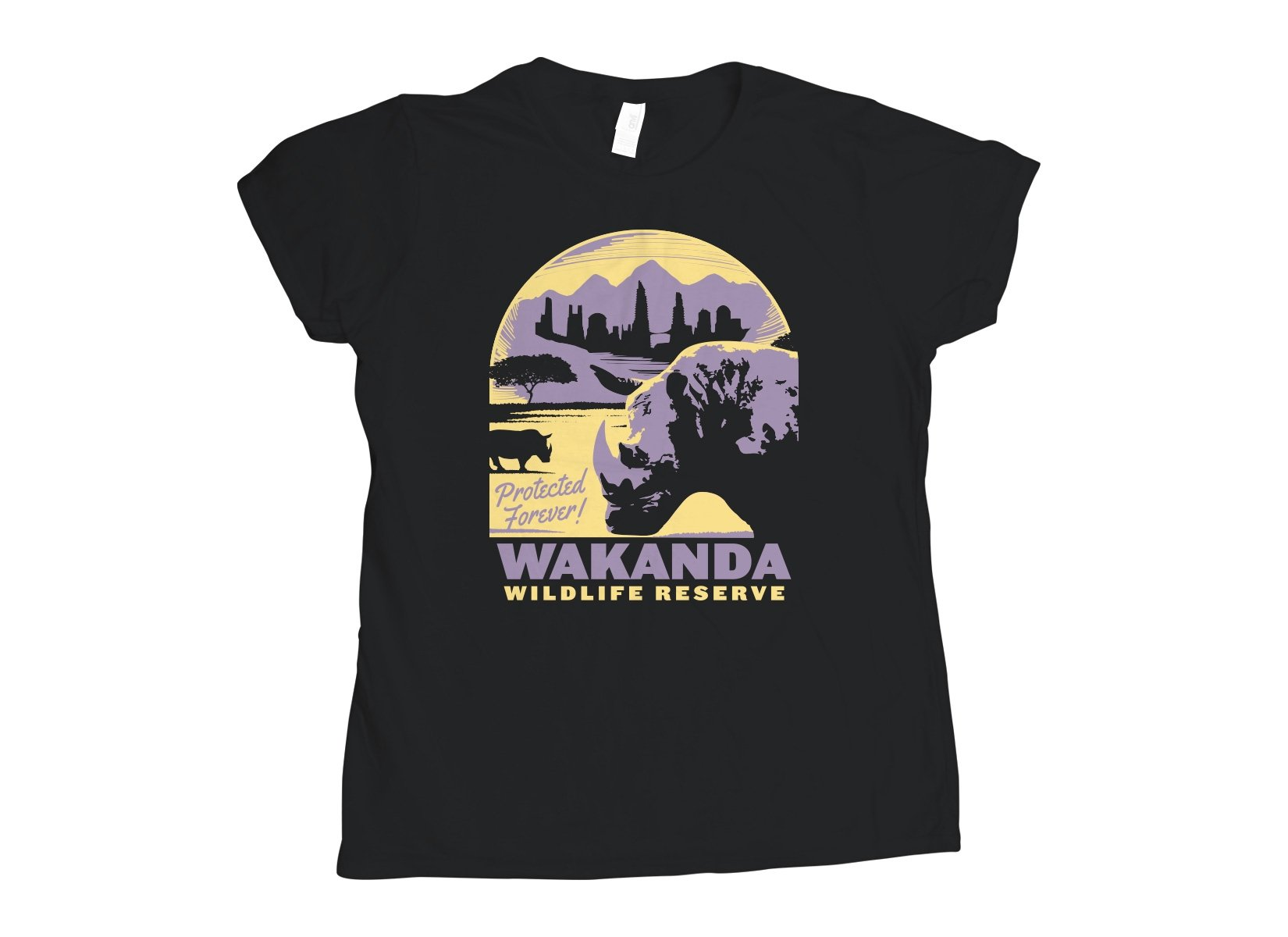 Wakanda Wildlife Reserve on Womens T-Shirt