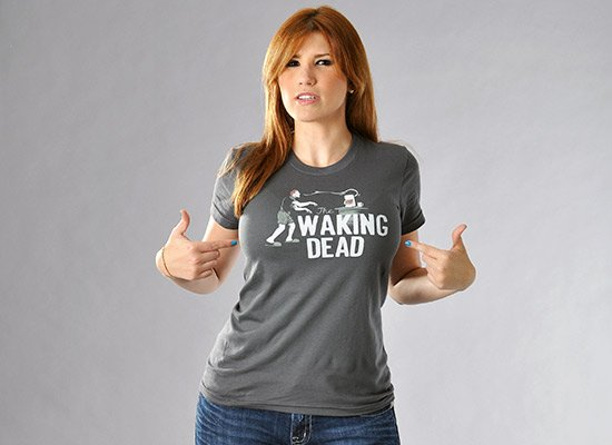 The Waking Dead on Juniors T-Shirt
