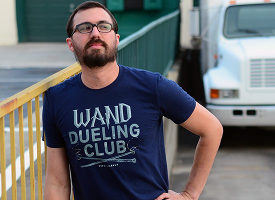 Wand Dueling Club on Mens T-Shirt