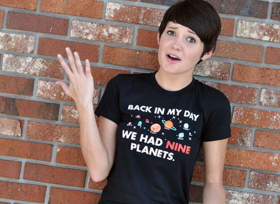 Back In My Day We Had Nine Planets on Juniors T-Shirt