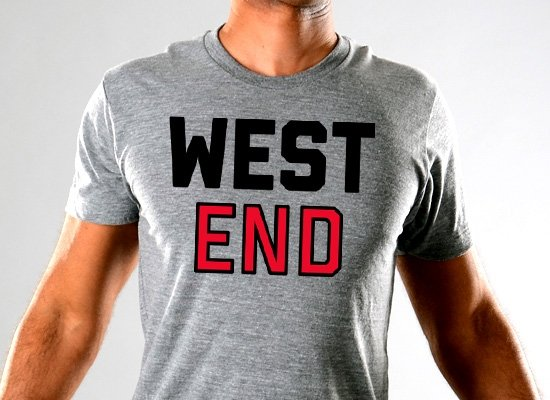 West End on Mens T-Shirt