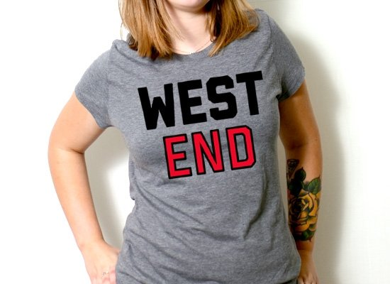 West End on Womens T-Shirt