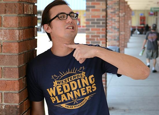 Westeros Wedding Planners on Mens T-Shirt