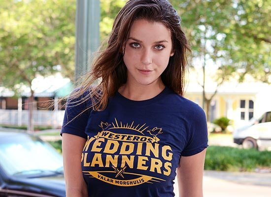 Westeros Wedding Planners on Juniors T-Shirt