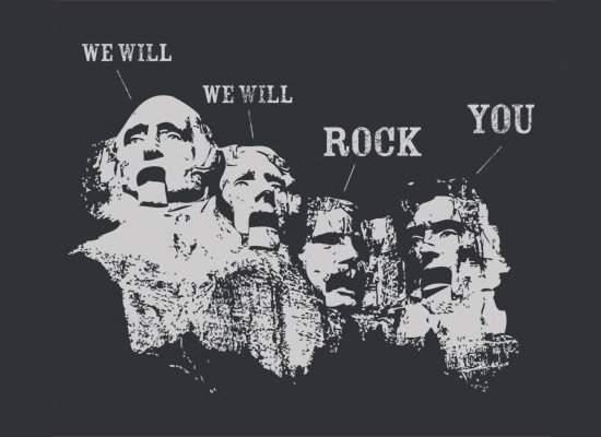 We Will Rock You on Mens T-Shirt