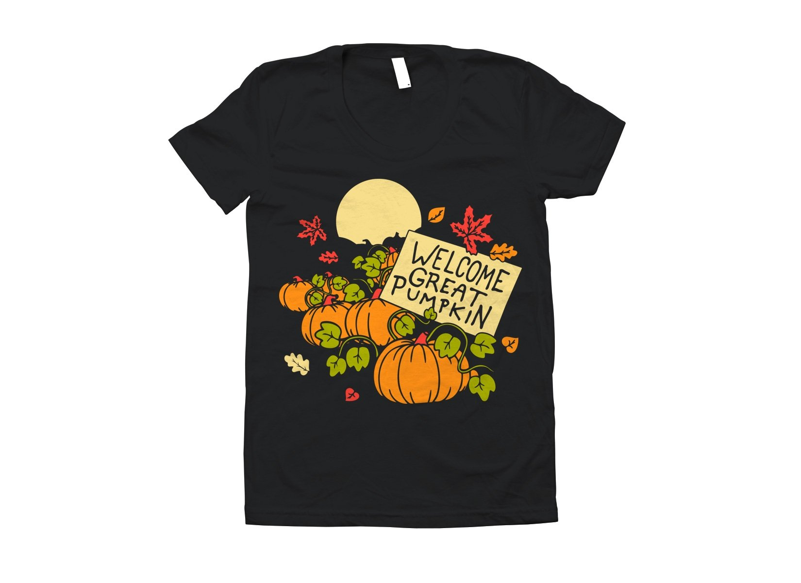 Welcome Great Pumpkin on Juniors T-Shirt