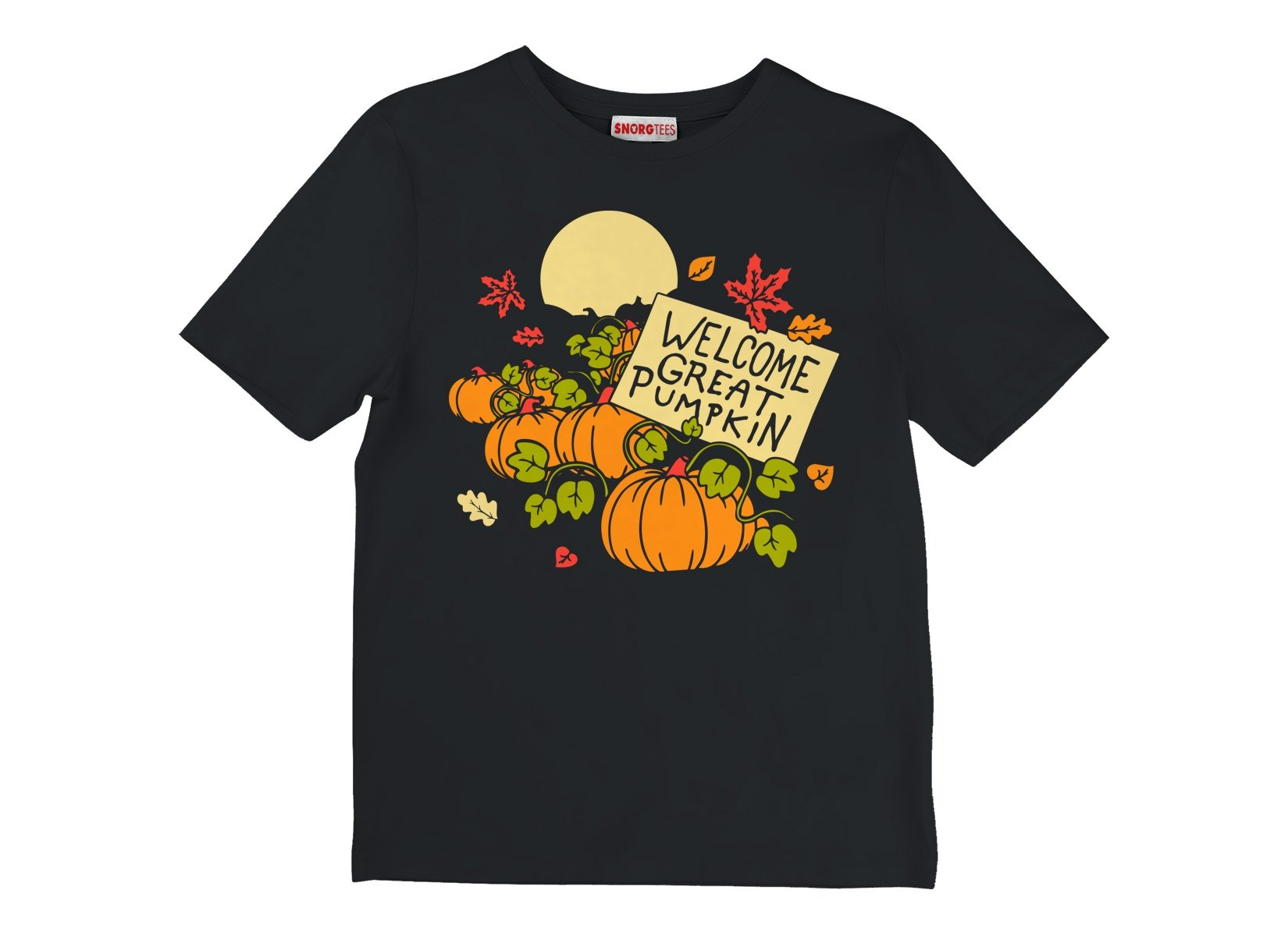 Welcome Great Pumpkin on Kids T-Shirt