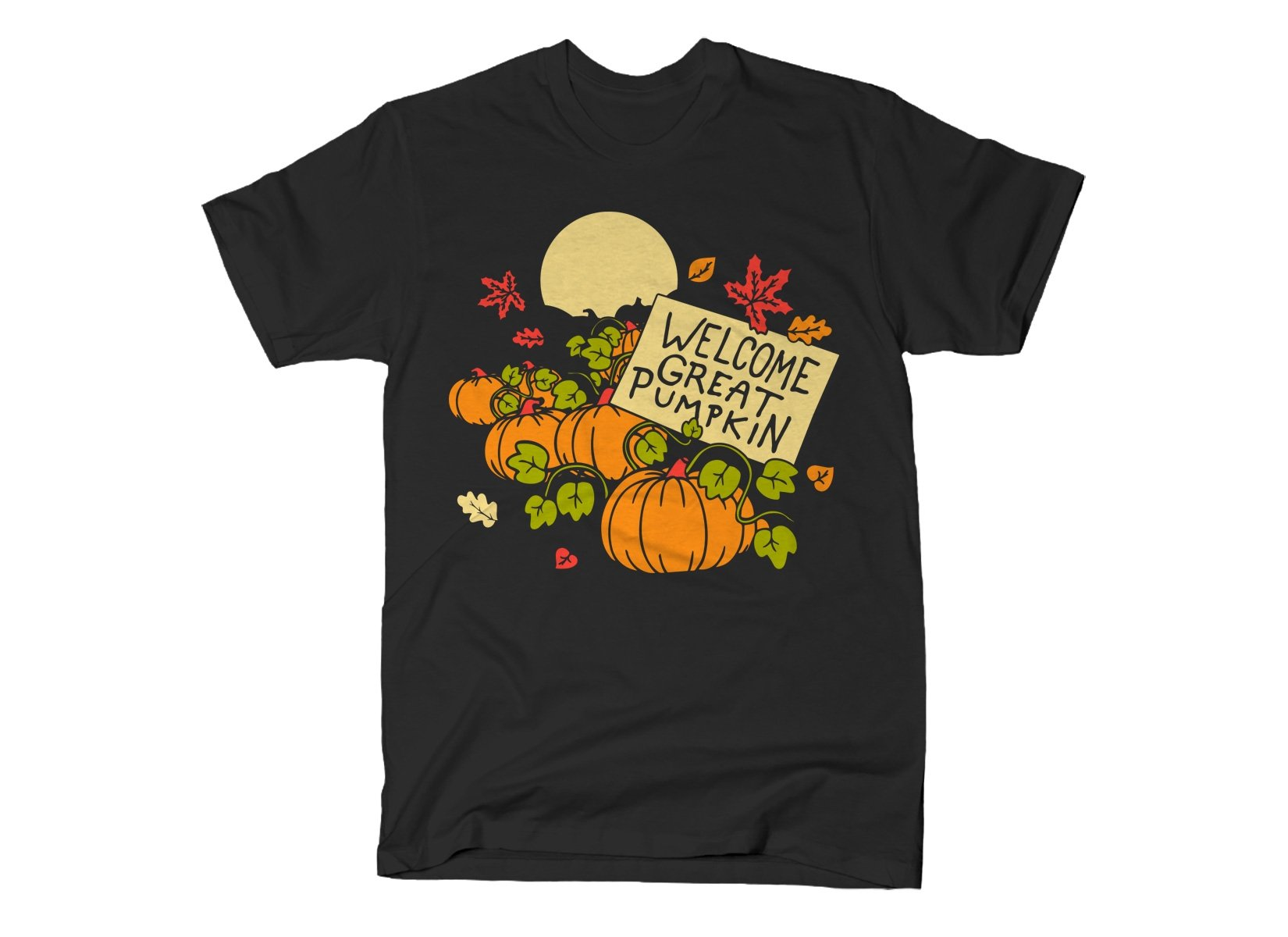 Welcome Great Pumpkin on Mens T-Shirt