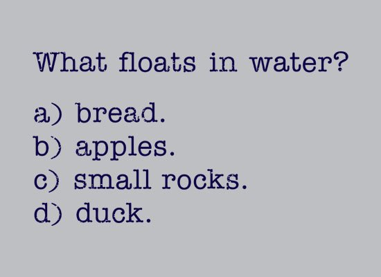 What Floats In Water? on Mens T-Shirt