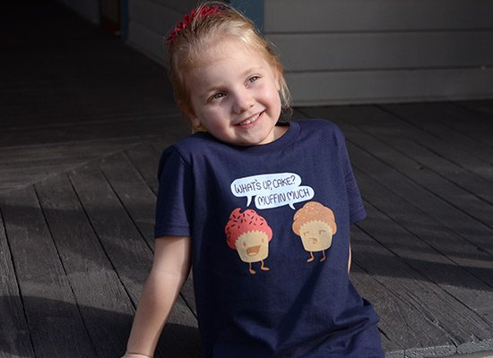 Muffin Much on Kids T-Shirt