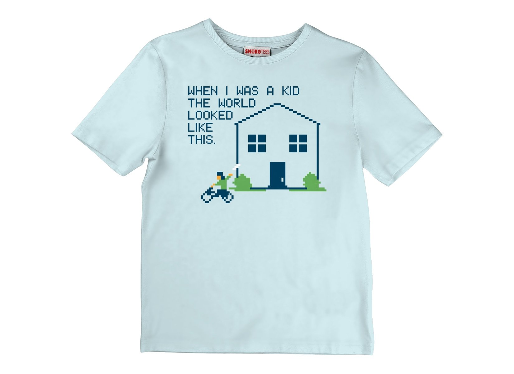 When I Was A Kid The World on Kids T-Shirt