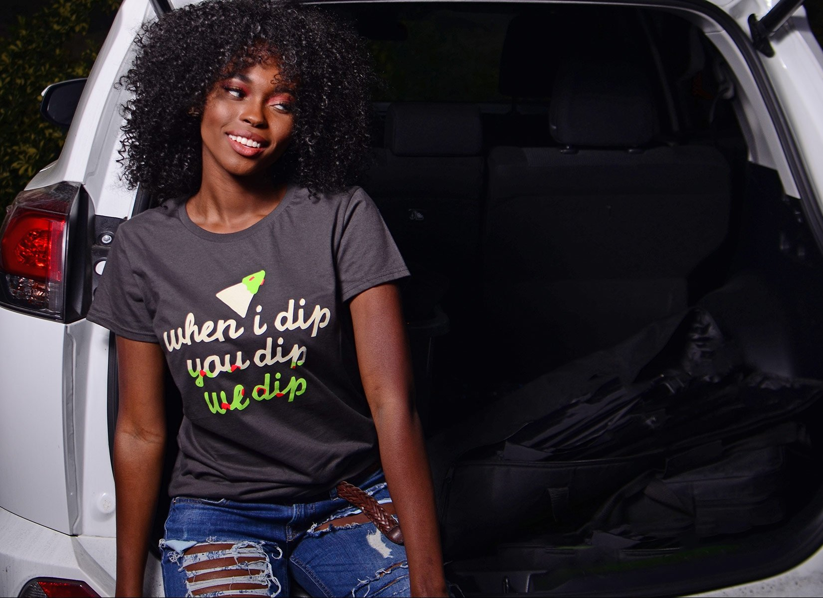 When I Dip You Dip We Dip on Womens T-Shirt