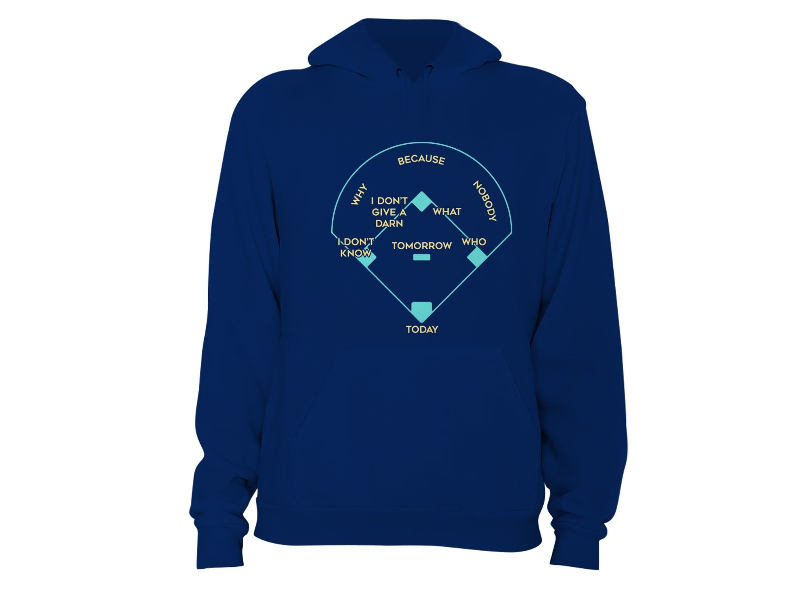 Baseball Positions on Hoodie