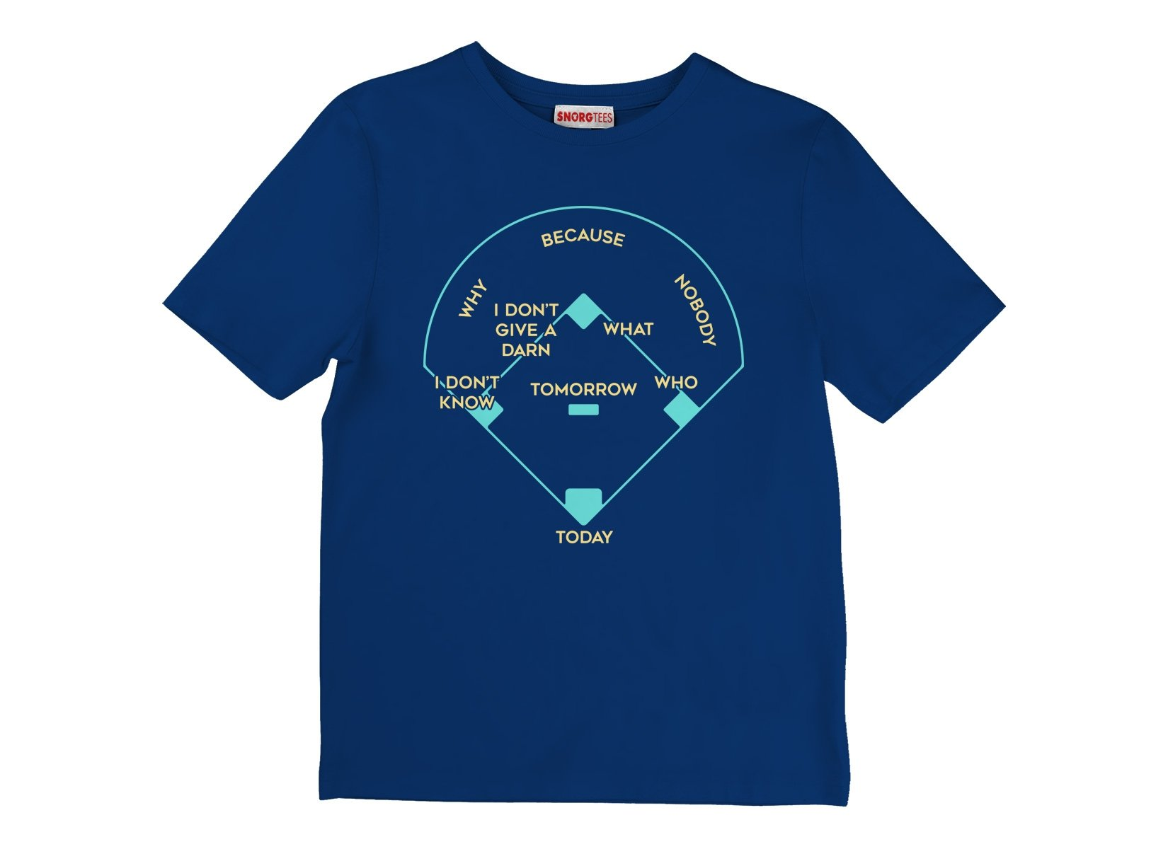 Baseball Positions on Kids T-Shirt