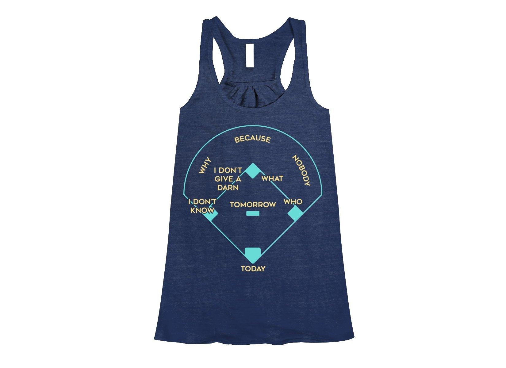 Baseball Positions on Womens Tanks T-Shirt