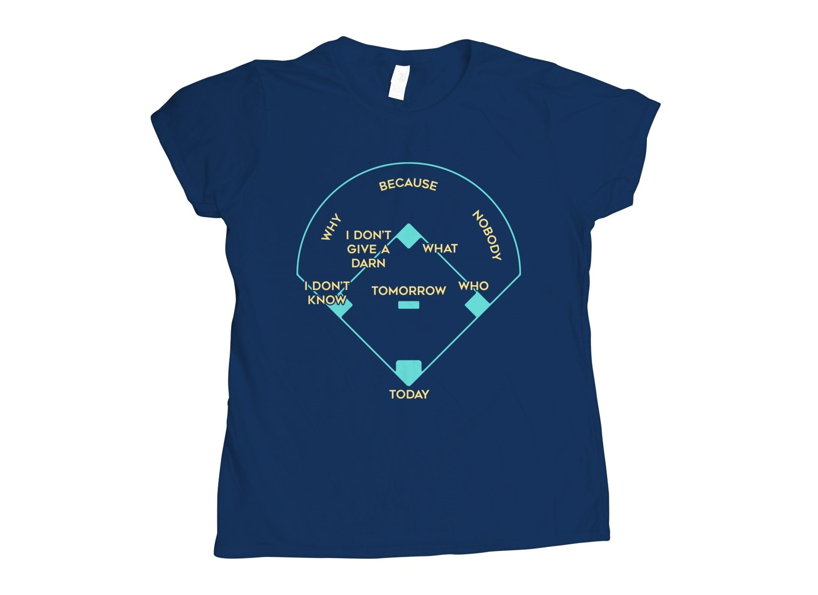 Baseball Positions on Womens T-Shirt