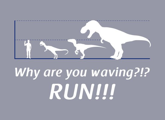 Why Are You Waving? Run! on Mens T-Shirt