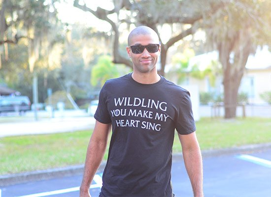 Wildling You Make My Heart Sing on Mens T-Shirt