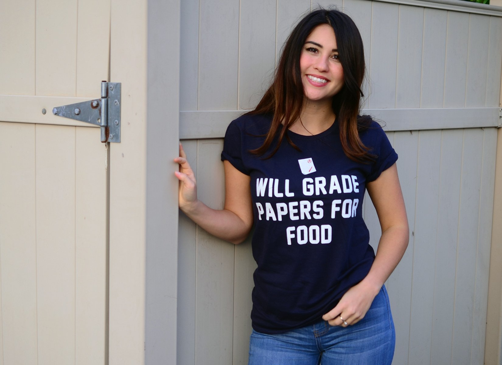 Will Grade Papers For Food on Womens T-Shirt