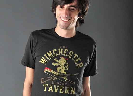 The Winchester Tavern on Mens T-Shirt