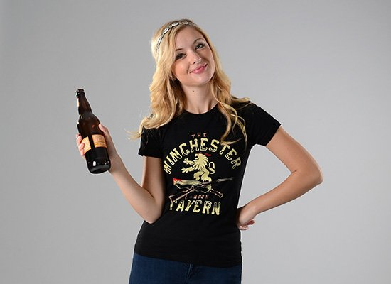 The Winchester Tavern on Juniors T-Shirt