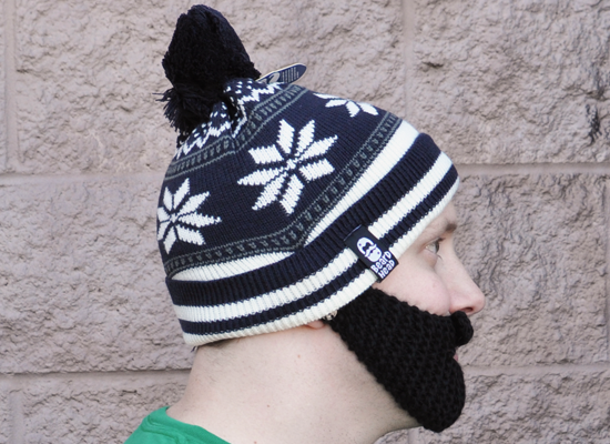 Bearded Winter Hat on Mens Hats