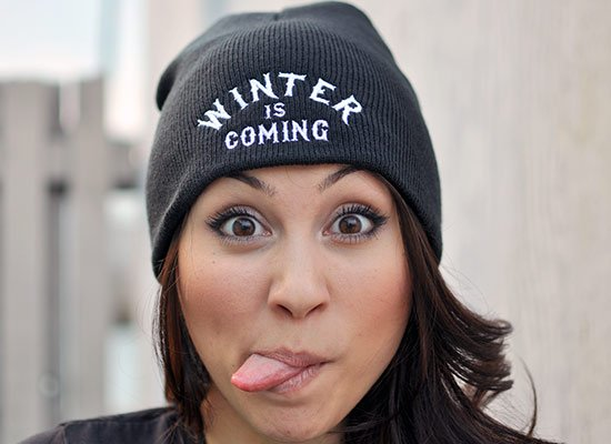 Winter Is Coming Beanie on Mens Hats