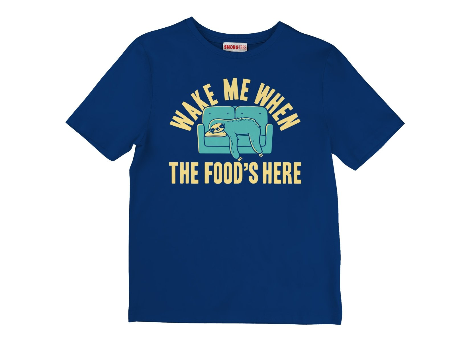 Wake Me When The Food's Here on Kids T-Shirt