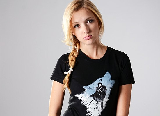The Wolf on Juniors T-Shirt