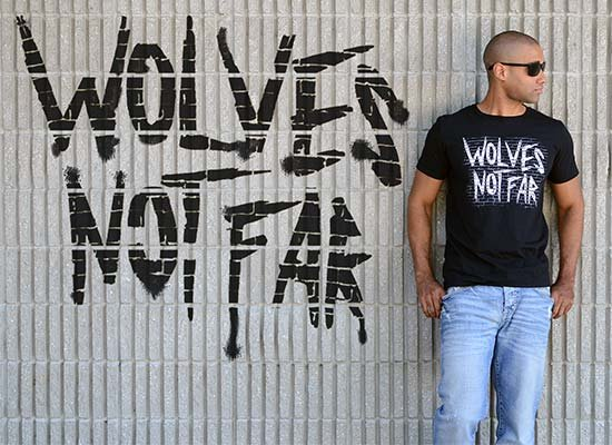 Wolves Not Far on Mens T-Shirt
