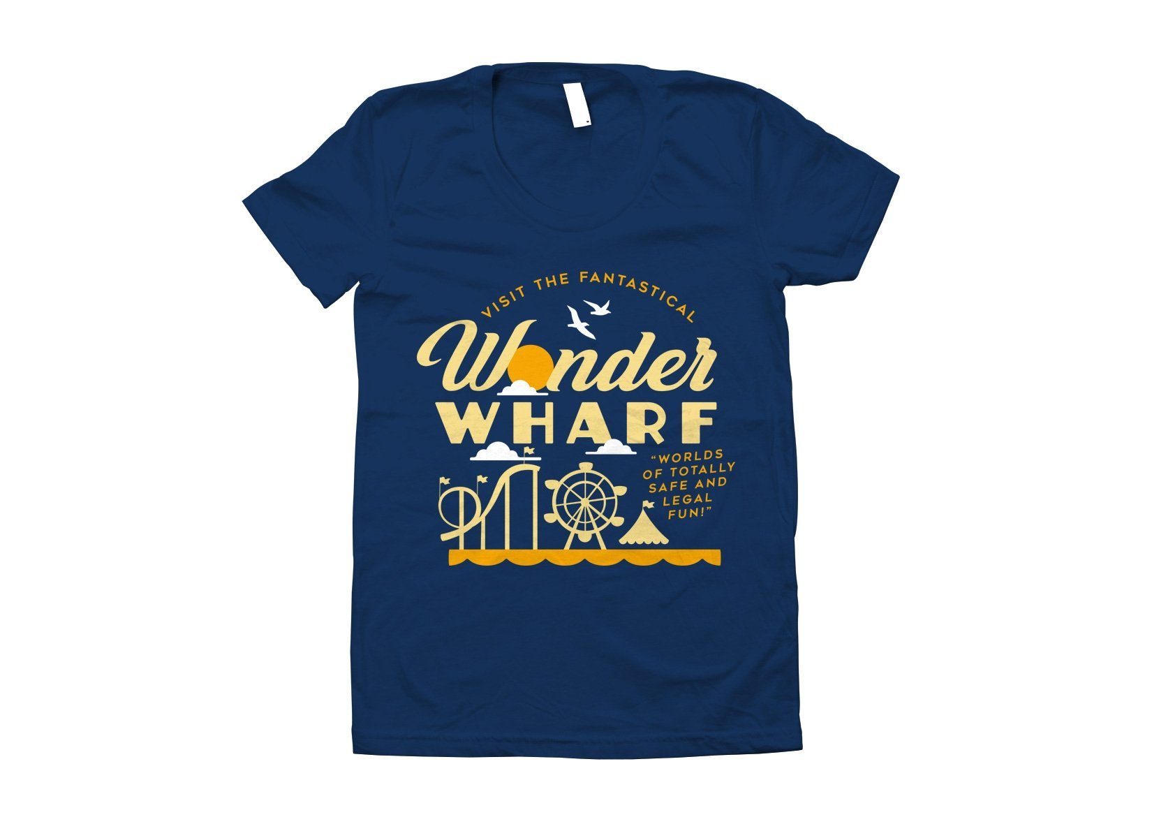 Wonder Wharf on Juniors T-Shirt