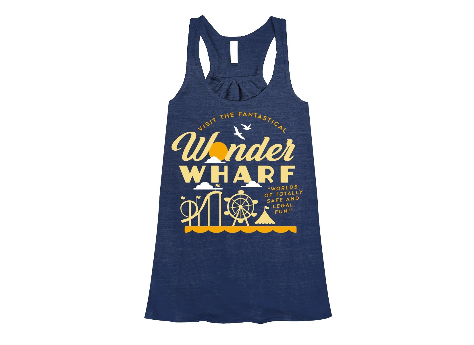 Wonder Wharf on Womens Tanks T-Shirt