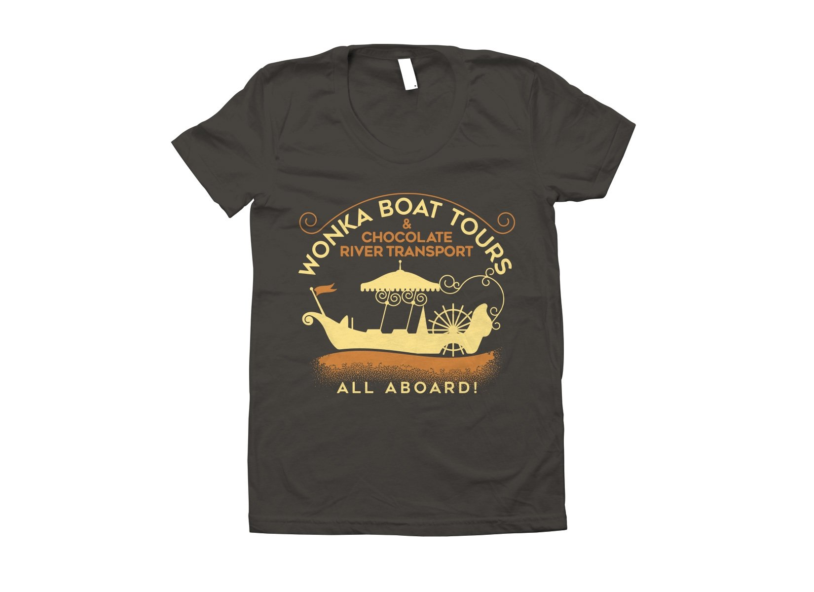 Wonka Boat Tours on Juniors T-Shirt