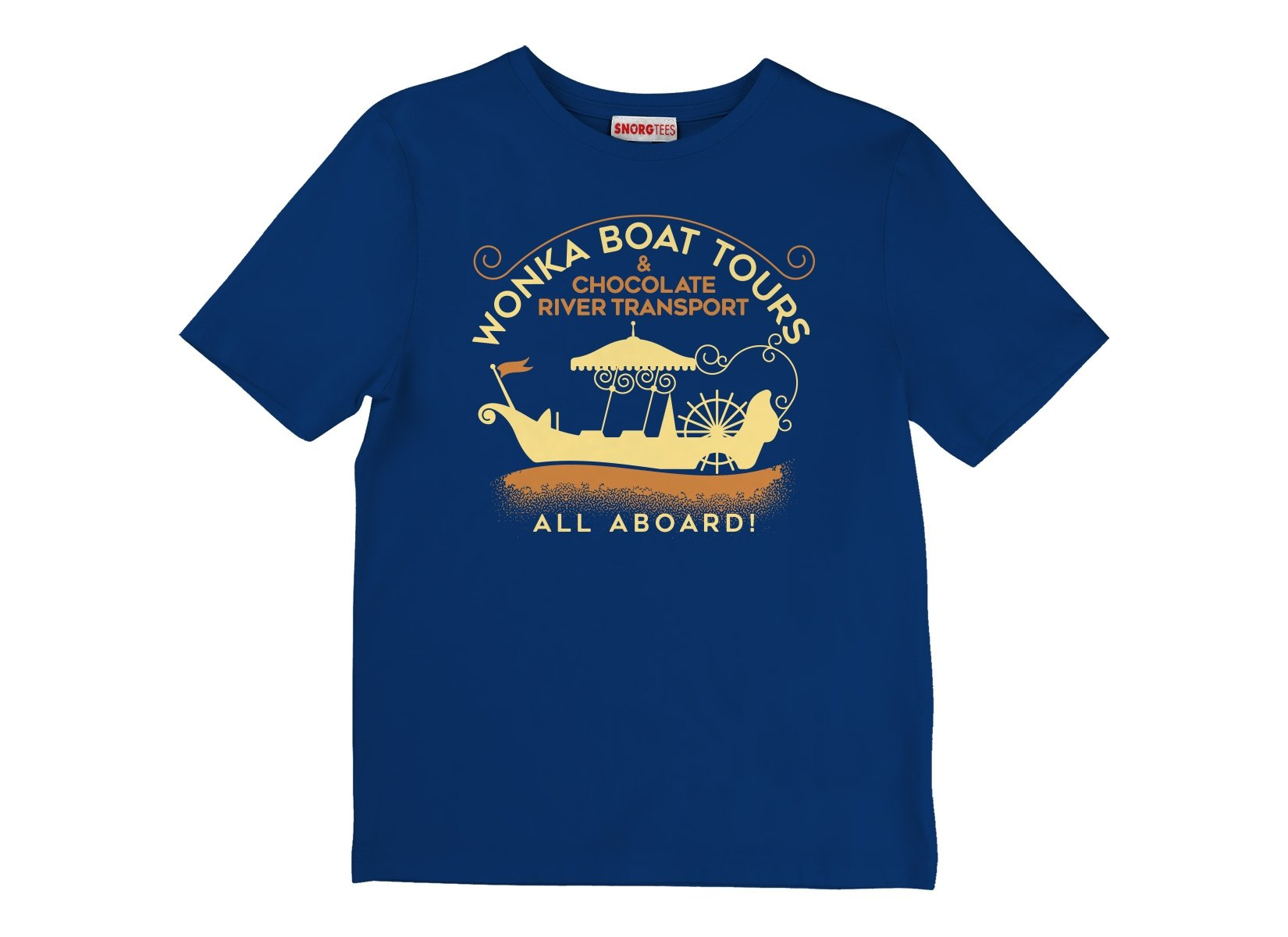 Wonka Boat Tours on Kids T-Shirt