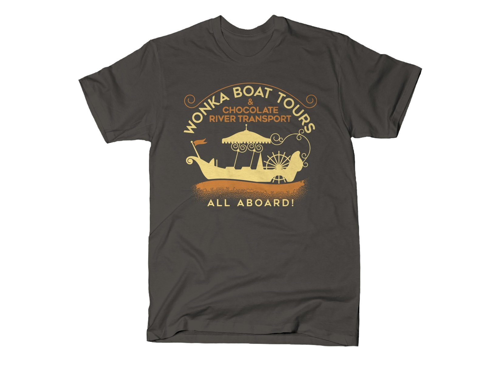 Wonka Boat Tours on Mens T-Shirt