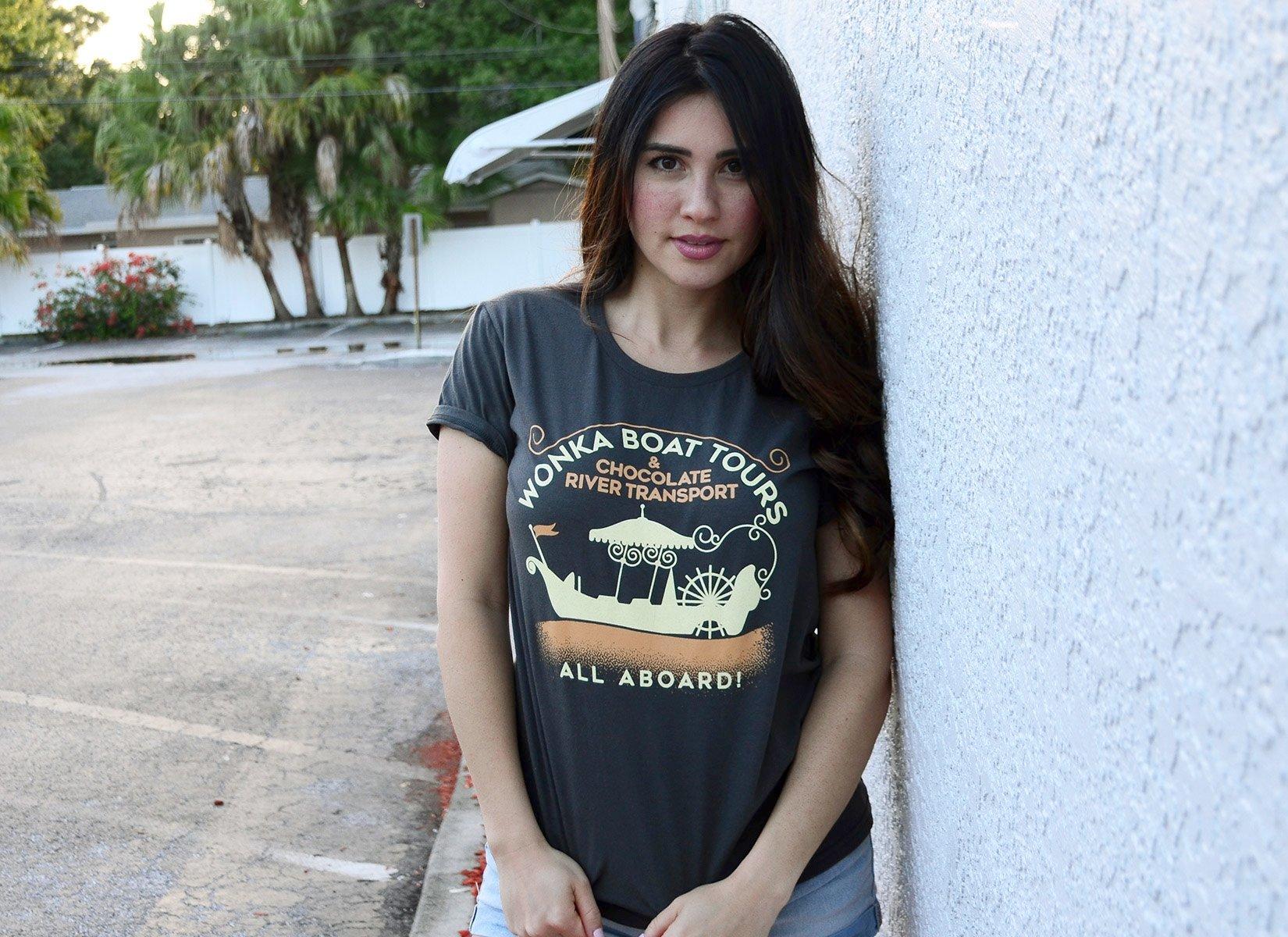 Wonka Boat Tours on Womens T-Shirt