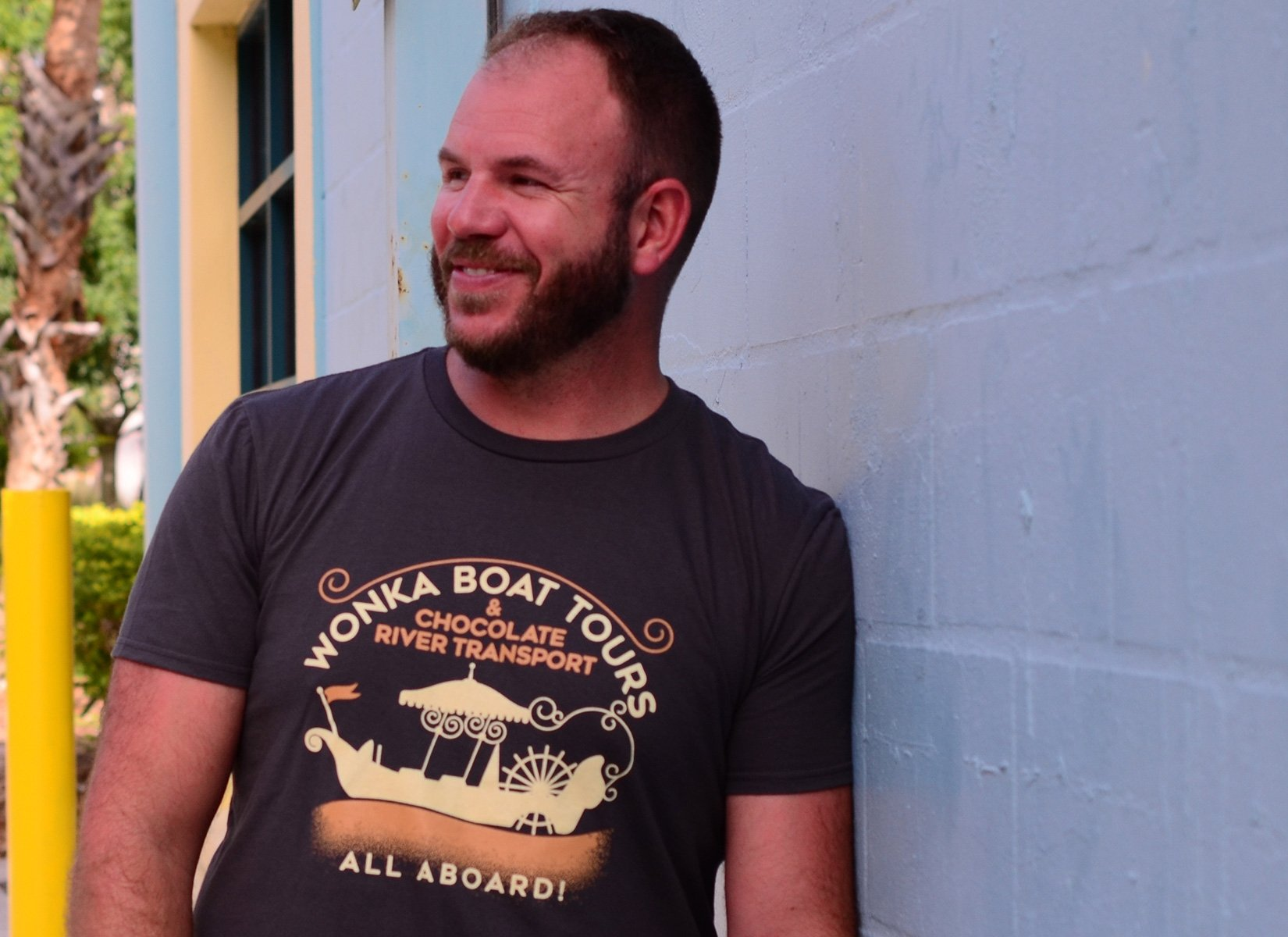 Wonka Boat Tours on Mens T-Shirt