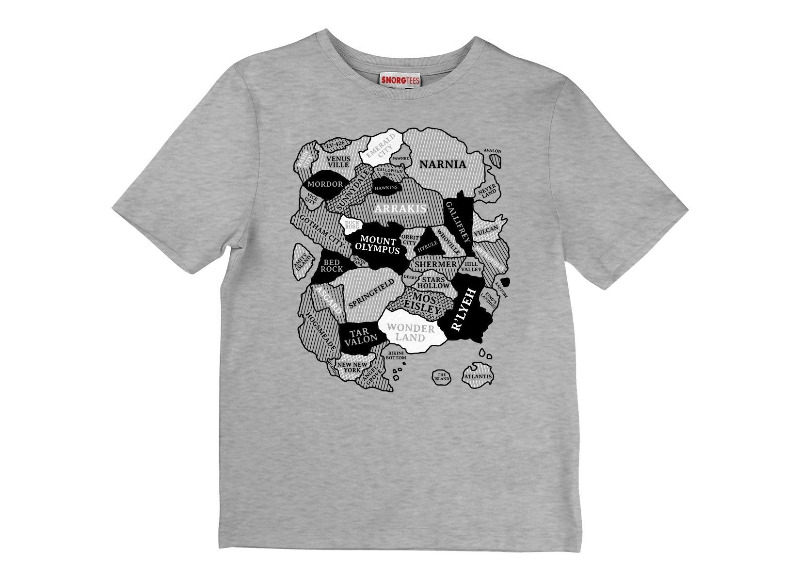World Map on Kids T-Shirt