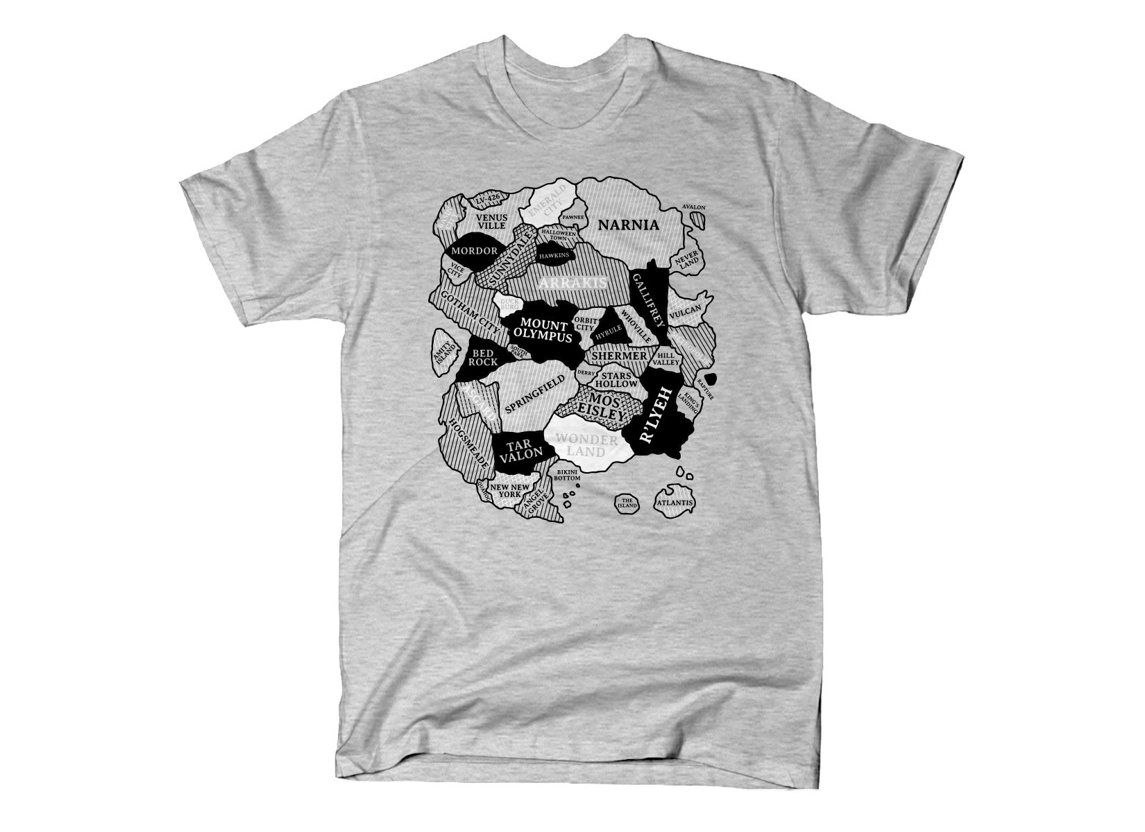World Map on Mens T-Shirt