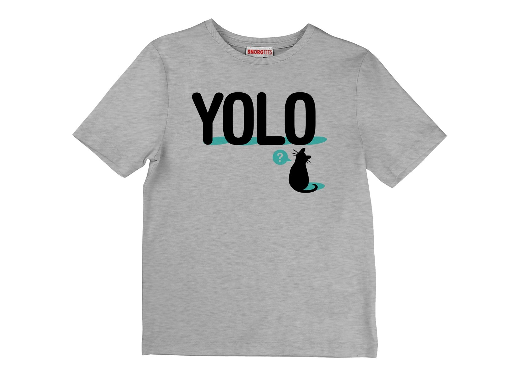 YOLO Cat on Kids T-Shirt