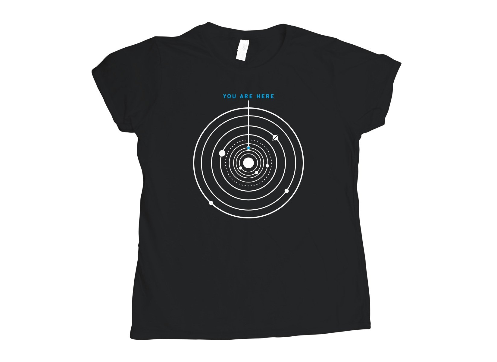 You Are Here on Womens T-Shirt
