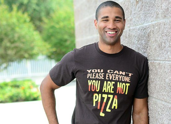 You Are Not Pizza on Mens T-Shirt