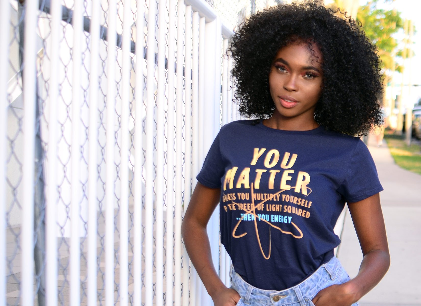 You Matter on Womens T-Shirt