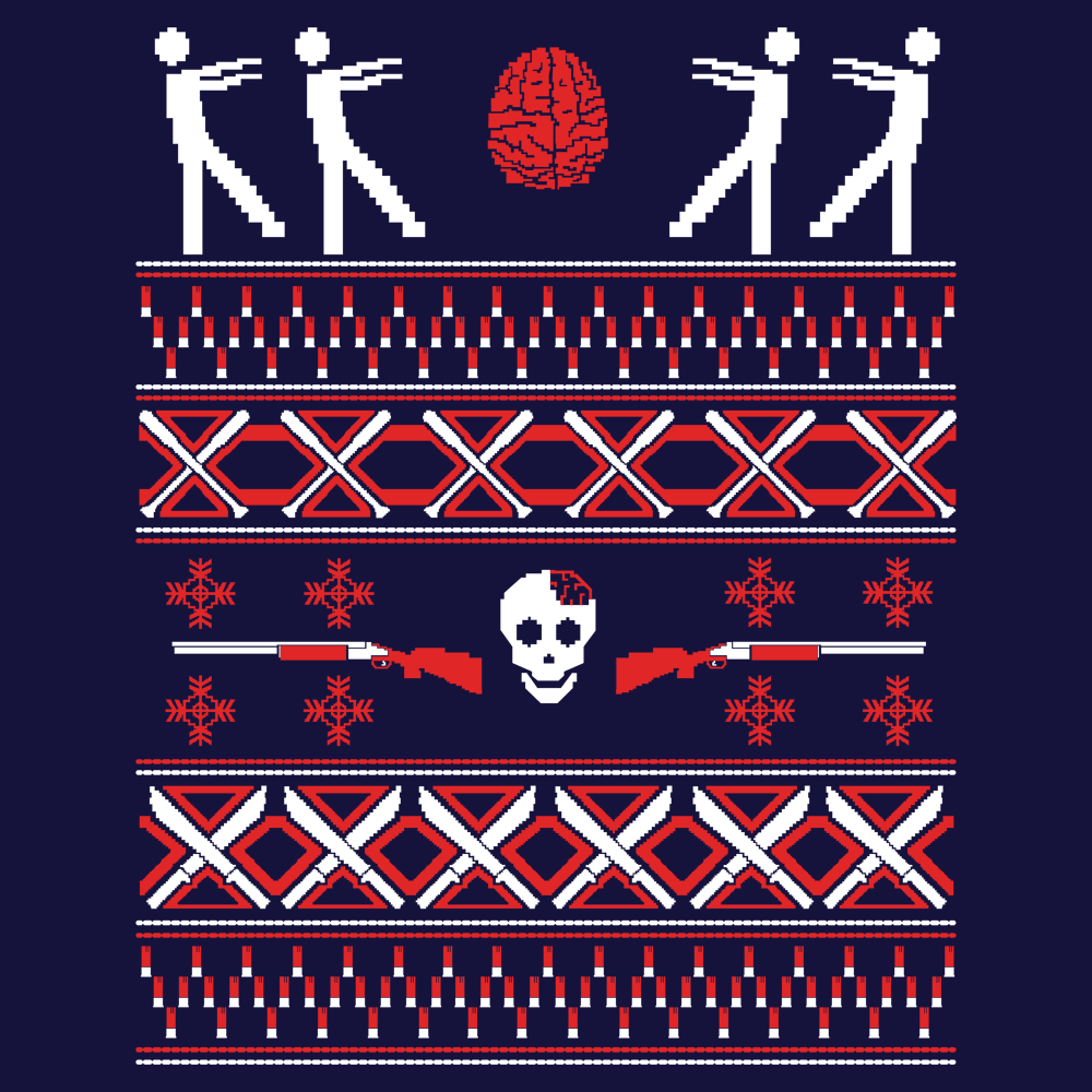 Zombie Christmas Sweater T-Shirt | SnorgTees
