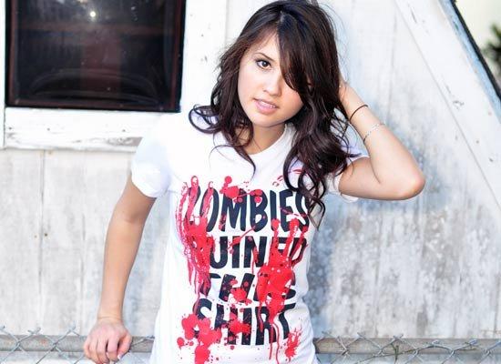 Zombies Ruined This Shirt on Juniors T-Shirt