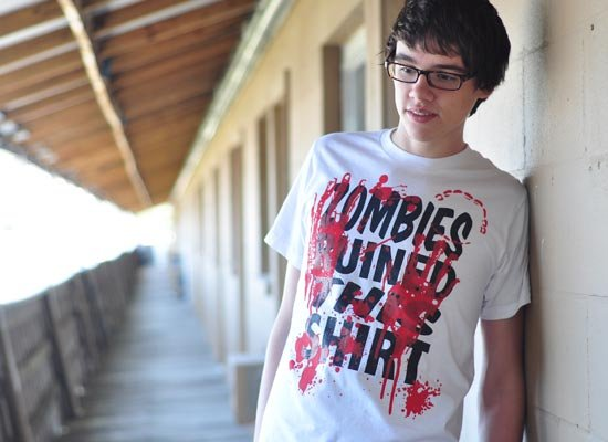 Zombies Ruined This Shirt on Mens T-Shirt