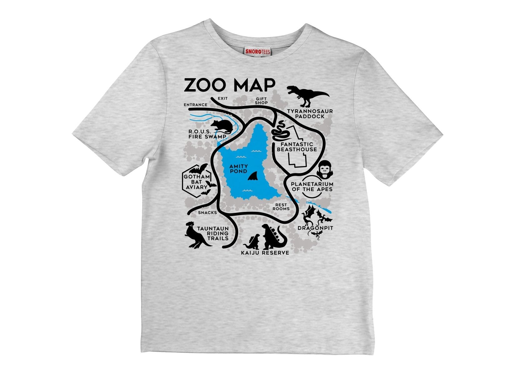 Zoo Map on Kids T-Shirt