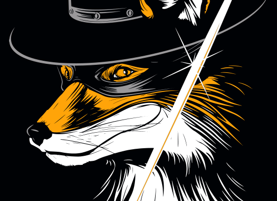 The Fox on Mens T-Shirt