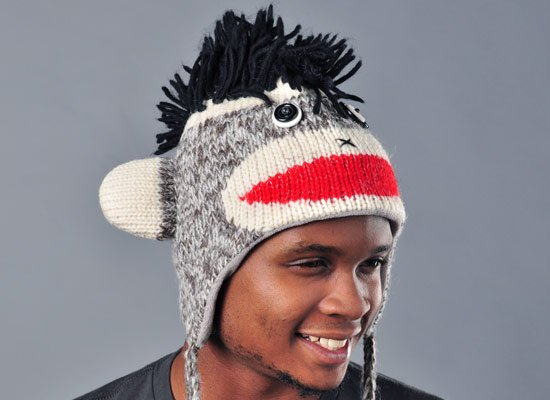Punk Rock Sock Monkey Hat