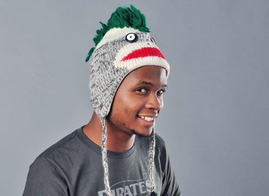 Mohawk Sock Monkey Hat
